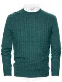 He By Mango Cable-knit Cashmere Sweater