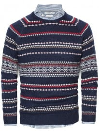 He By Mango Fair Isle Wool-blend Sweater