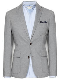 He By Mango Leather Elbow Patches PiquÉ Blazer