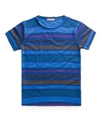He By Mango Striped Slub-cotton T-shirt