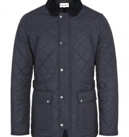 Reiss Angel Quilted Jacket Navy
