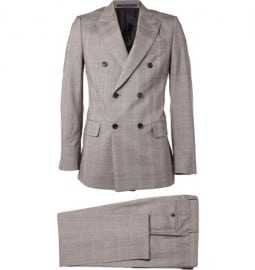 Yves Saint Laurent Prince Of Wales Check Wool-blend Suit