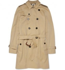 Burberry London Trench 37 Cotton Gabardine Coat
