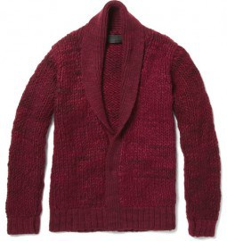 The Elder Statesman Monster Cashmere Shawl Collar Cardigan