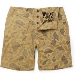 Ymc Camouflage-print Cotton Shorts