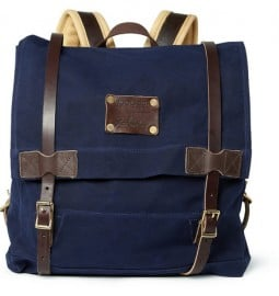 Woolrich Leather And Canvas Backpack