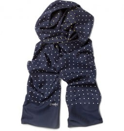 Drakes Reversible Dotted Silk Scarf
