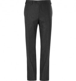 Canali Slim-fit Wool-flannel Trousers