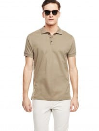 He By Mango Essential Cotton Polo Shirt