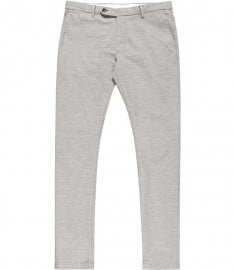 Reiss Robert Check Cotton Trousers Grey
