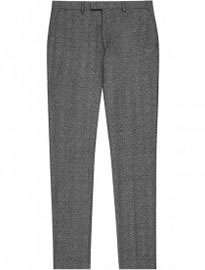 Reiss Bronte T Wool Melange Trousers Grey