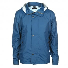 Paul Smith Jeans Mens Lightweight Waterproof Blue Hooded Jacket