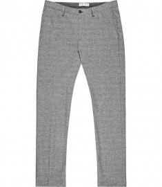 Reiss Townsend Flannel Check Trousers Grey