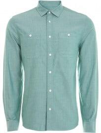Burton Green Long Sleeve Oxford Shirt