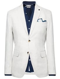 He By Mango Unstructured Linen Blazer