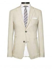 He By Mango Linen Cotton-blend Suit Blazer