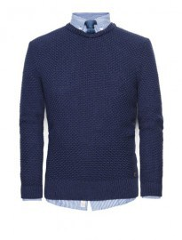 He By Mango Textured Knit Cotton Sweater