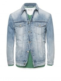He By Mango Light Wash Denim Jacket