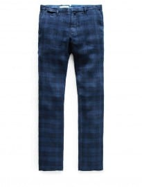 He By Mango Slim-fit Check Linen Chinos
