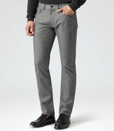 Reiss Slater Slim Denim Jeans Grey