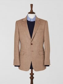 Jaeger Camel Hair Basketweave Jacket