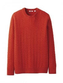 Uniqlo Men Cashmere Blend Cable Sweater