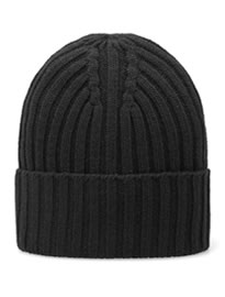 Gant Rugger Ribbed Beanie Black