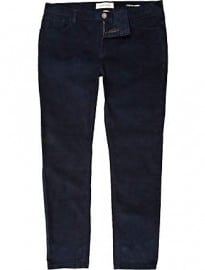 River Island Blue Corduroy Stretch Skinny Trousers