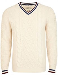 River Island Ecru Chunky Cable Knit Cricket Jumper