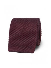 T.m.lewin Burgundy Knitted Silk Tie