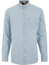 River Island Light Blue Oxford Shirt