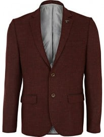 River Island Brown Animal Collar Pin Wool Blazer