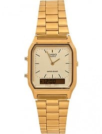 River Island Gold Tone Casio Square Watch