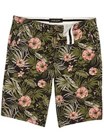 River Island Black Floral Print Shorts