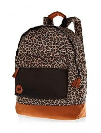 River Island Brown Mipac Leopard Print Backpack