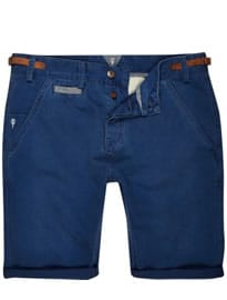 River Island Navy Holloway Road Chino Shorts