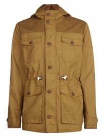 New Look Camel Cotton Drawstring Waist Jacket