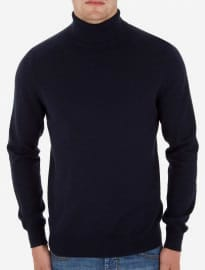 Burton Navy Roll Neck Jumper