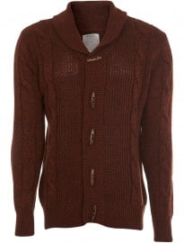 Burton Rust Cable Twist Cardigan
