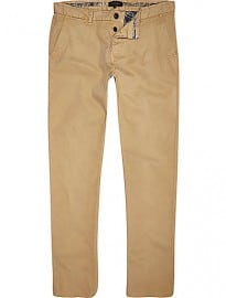River Island Stone Slim Chinos