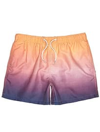 River Island Peach Dip Dye Swim Shorts
