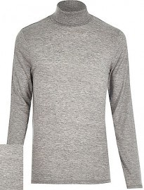 River Island Grey Jersey Roll Neck