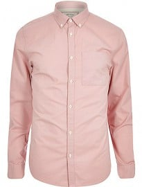 River Island Pink Twill Shirt
