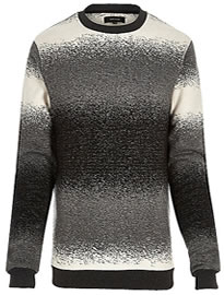 River Island Dark Grey Ombre Jumper