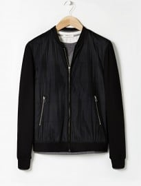 He By Mango Mixed Bomber Jacket