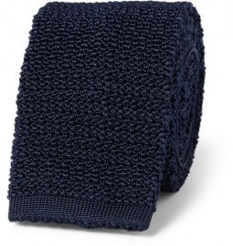 Drakes Slim Knitted Silk Tie