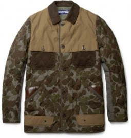 Junya Watanabe Leather-trimmed Camouflage Jacket