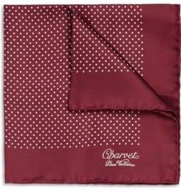 Charvet Polka-dot Silk Pocket Square