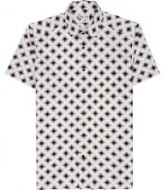 Reiss Concorde Diamond Print Shirt White