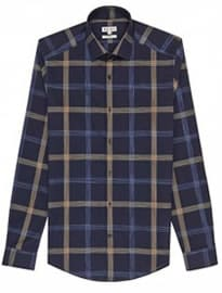 Reiss Bandit Sketch Check Shirt Navy